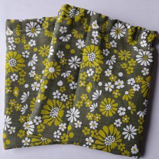 green flower wash bag