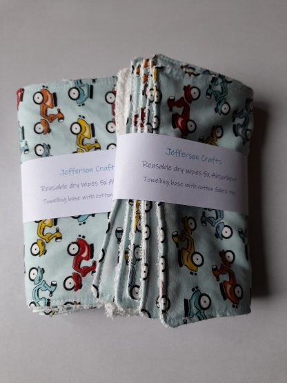 Blue scooter absorbent wipes