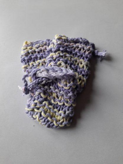 purple +yellow soap saver cotton