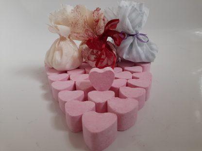 strawberry bath heart